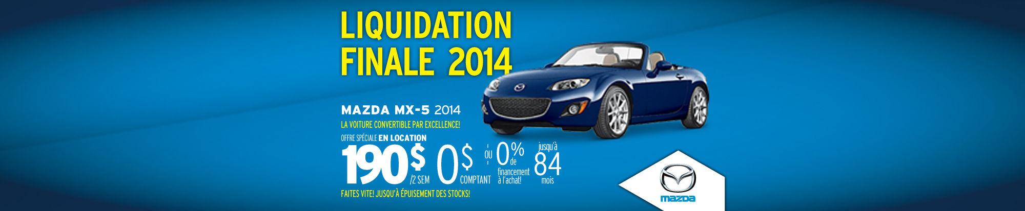 Mazdamx5 2014 liquidation