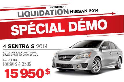 La Nissan Sentra DÉMO 2014 à seulement 15 950$