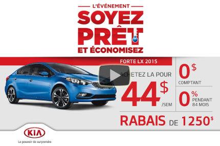 La nouvelle Kia Forte 2015 est arrivée. Louez-là à compter de seulement 44$ par semaine