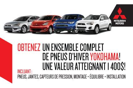 Achetez un Mitsubishi 2014-15 neufs et obtenez un ensemble de pneus!