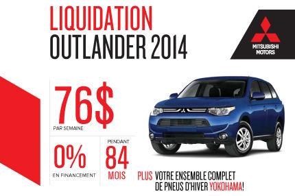 Nouveau Mitsubishi Outlander 2014 à vous à partir de 76$ par semaine