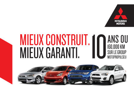 Ayez la tranquilitié d'esprit avec Mitsubishi