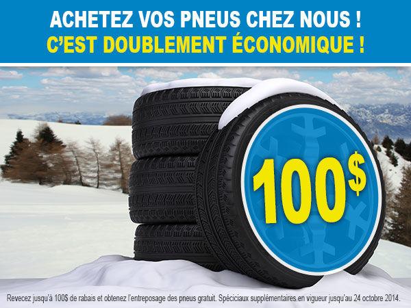 Rabais sur l'achat de pneus d'hiver!