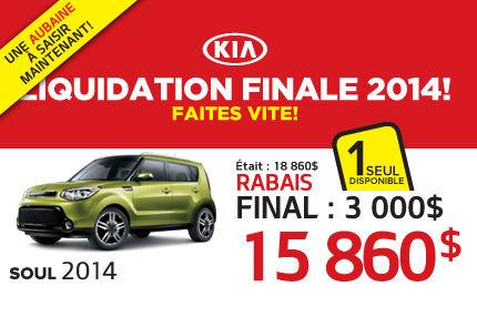 Liquidation de Kia: Soul 2014 à 15 860$