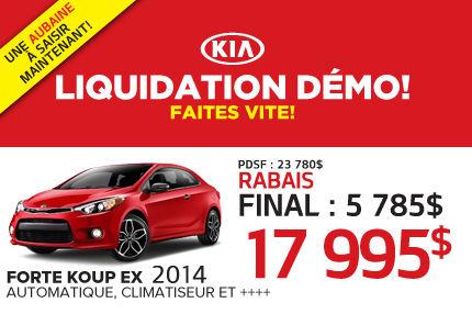 Liquidation de la Kia Forte Koup Ex 2014 à  17 995$