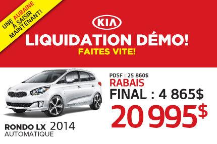 Liquidation du Kia Rondo LX 2014 démo à 20 995$
