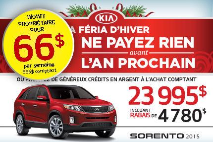 Kia Sorento 2015 à seulement 23 995$