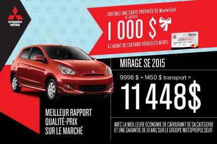Mitsubishi Mirage 2015 à l'achat à 11 448$