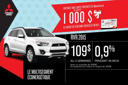 Nouveau Mitsubishi RVR 2015 en location à 109$ aux 2 semaines