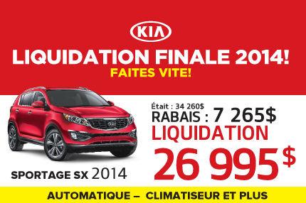 Liquidation de Kia: Sportage SX 2014 à 26 995$