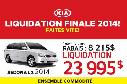 Liquidation de Kia: Sedona 2014 à 23 995$