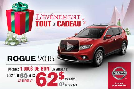Nissan Rogue 2015 en location à 62$ par semaine