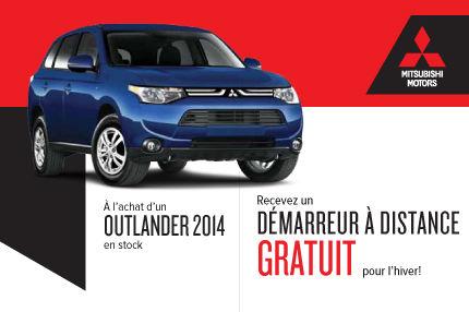 Mitsubishi Outlander 2014: démarreur à distance gratuit