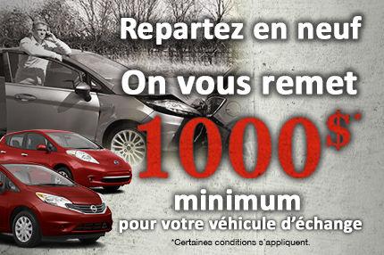 1000$ minimum sur votre véhicule d'échange