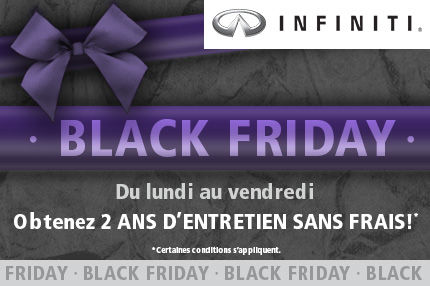 Black Friday chez Infiniti Sherbrooke