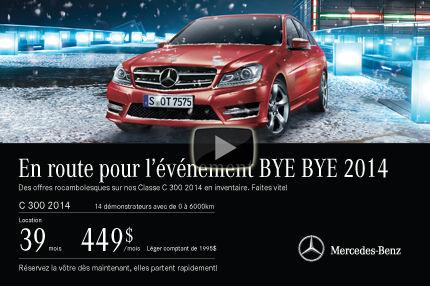 Classe C démo 2014 de Mercedes: location à 449$ par mois
