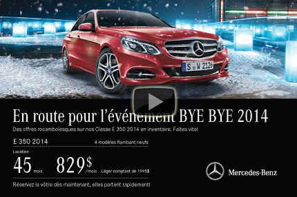 Classe E 2014 de Mercedes: location à 829$ par mois