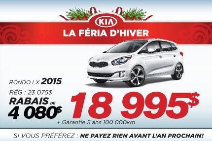 La nouvelle Kia Rondo LX 2015 à 18 995$