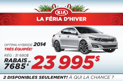 Liquidation de la Kia Optima Hybride EX 2014 à 23 995$