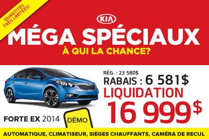 Méga Spéciaux de Kia: Forte 2014 à seulement 16 999$
