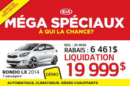 Méga Spéciaux de Kia: Rondo LX 2014 à 19 999$
