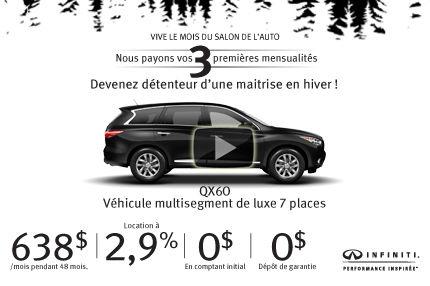 Infiniti QX60 AWD 2015 à vous pour 638$ par mois