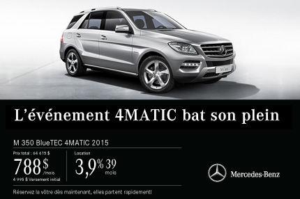 La Mercedes-Benz M 350 2015 à partir de 788$ par mois