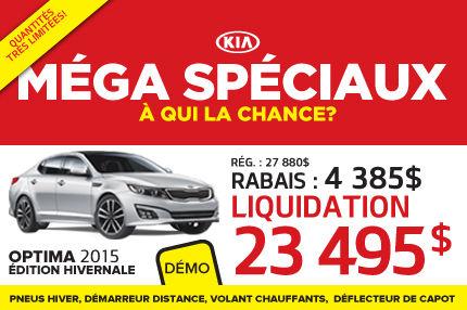La nouvelle Kia Optima 2015 à seulement 23 495$