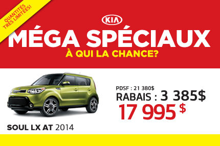 La nouvelle Kia Soul LX 2014 à seulement 17 995$