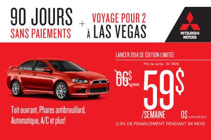 Mitsubishi Lancer 2014 à compter de 59$ par semaine: