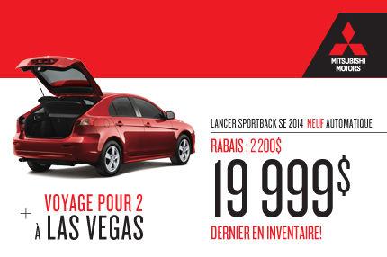 Mitsubishi Lancer Sportback 2014 à compter de 19 995$