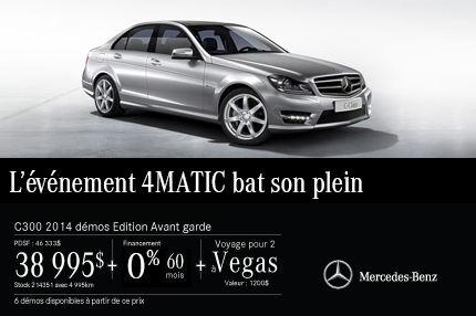 Classe C 300 de Mercedes-Benz DEMO: à vous pour 38 995$