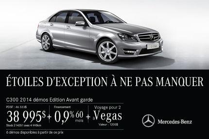 Classe C 300 de Mercedes-Benz DEMO: à vous pour 28 995$