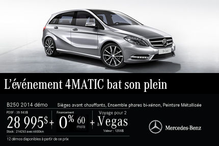 La Mercedes-Benz B250 DEMO: à vous pour 28 995$