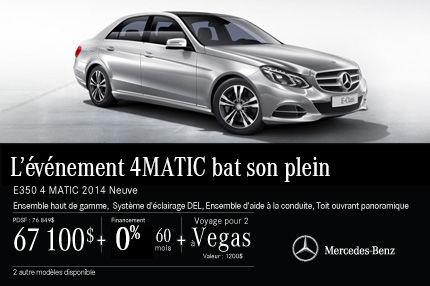 La Mercedes-Benz E350 DEMO: à vous avec rabais de 9749$