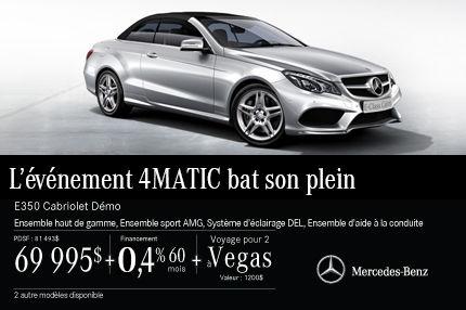 La Mercedes-Benz E350 Cabriolet: rabais de 11 498$