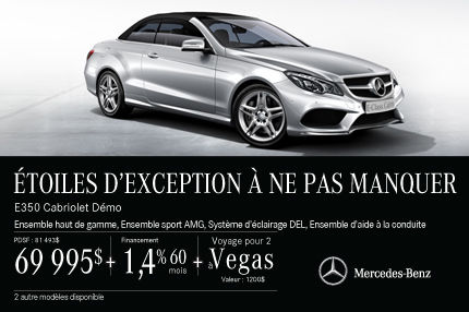 La Mercedes-Benz E250 Cabriolet: rabais de 11 498$