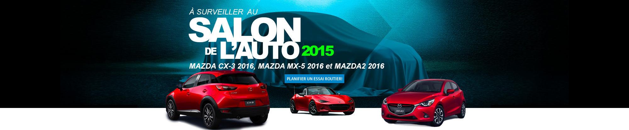 Mazda au Salon de l'auto 2015