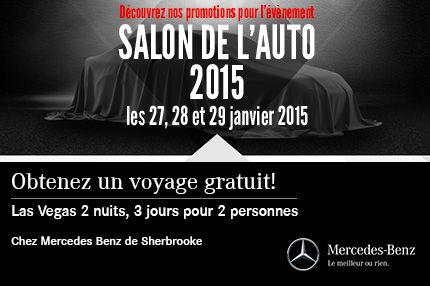 Découvrez les promotions Mercedes-Benz pour le salon de l'auto!