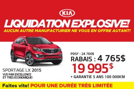 Le nouveau Kia Sportage LX 2015 à 19 995$