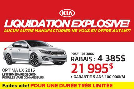 La Kia Optima LX 2015 à seulement 21 995$