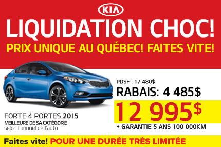 La Kia Forte LX 2015 à seulement 12 995$