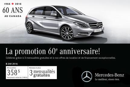 La Mercedes-Benz B250 2015 à vous pour 358$ par mois