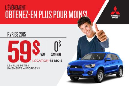 Nouveau Mitsubishi RVR 2015 à la location à 59$ par semaine
