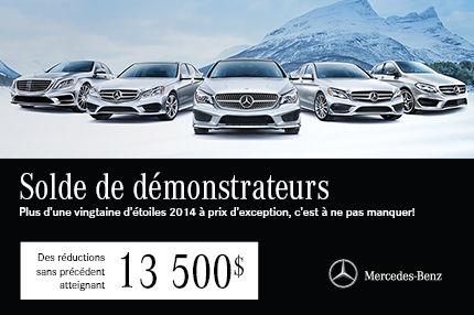 Solde Mercedes-Benz: Jusqu'à 13 500$ de Rabais