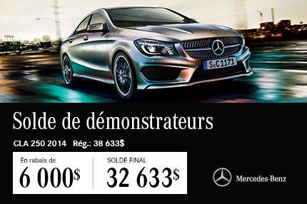 Classe CLA 250 2014 de Mercedes-Benz DEMO: en Solde à 32 633$