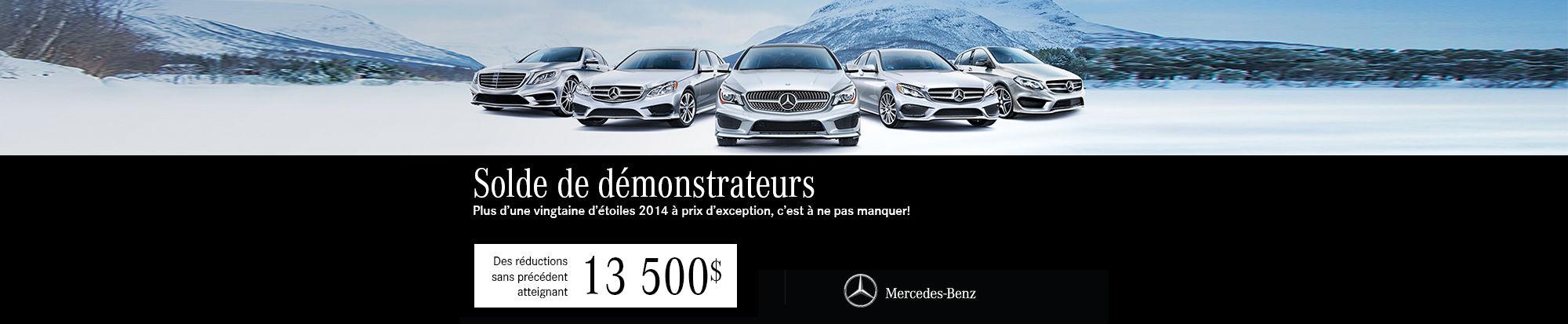 Solde de Démonstrateurs Mercedes