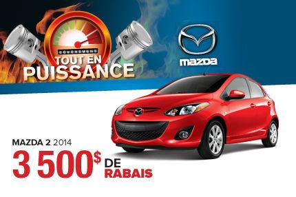 Rabais de 3500$ sur les Mazda 2 2014 !