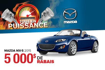C'est le meilleur temps de changer ! La Mazda MX-5 2015 est en rabais de 5000$ !