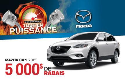 Passez voir nos Mazda CX-9 2015 en rabais de 5000$!